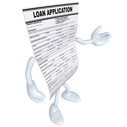 Loan application sheet