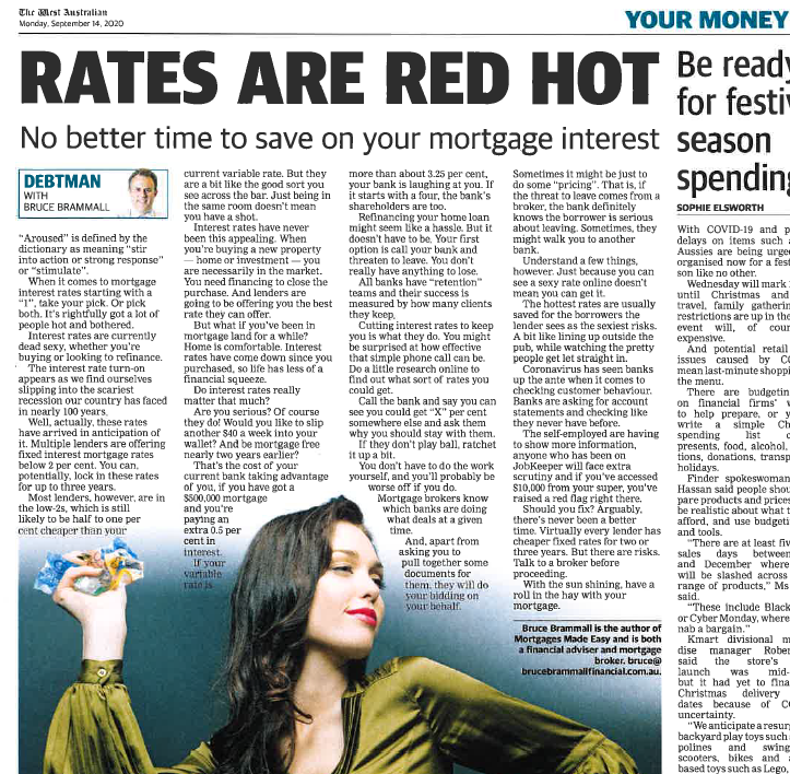 Your Money article Sept 2020